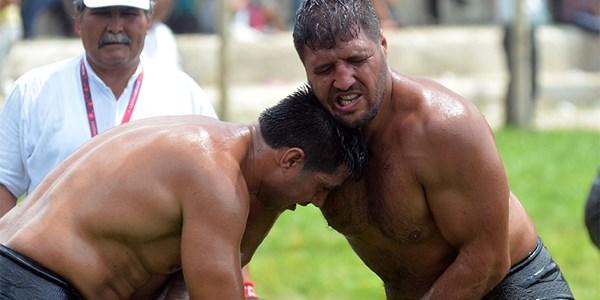 Başpehlivan Recep Kara, Sumo şampiyonuna karşı