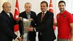 Cumhurbaşkanı Erdoğan; Anadolu Efes yönetici, teknik heyet ve sporcularını kabul etti
