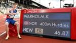 Karsten Warholm kendi rekorunu geliştirdi