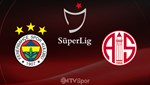 Fenerbahçe-Antalyaspor (Canlı Anlatım)