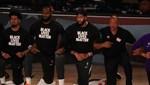 NBA'de oyuncular ırkçılığa karşı diz çöktü