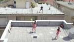 Federer'den çatıda tenis sürprizi