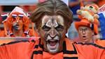 Hollanda-Ukrayna maçında tribünlerde ilginç görüntüler