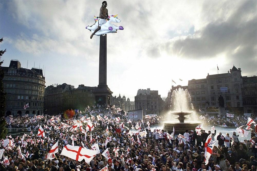 İngilizlerin unicorn'lu eğlencesi viral oldu!  - 25. Foto