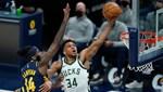 Giannis 40 sayıyla yıldızlaştı; Bucks, Indiana'yı devirdi