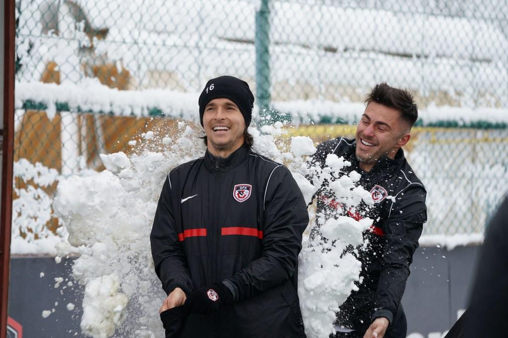 Gaziantep FK'da kartopu savaşı
