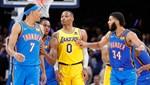 NBA'DE GÜNÜN SONUÇLARI | Thunder, 26 sayı geriden gelip Lakers'ı devirdi