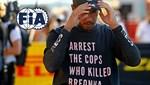 FIA, Lewis Hamilton'ın politik mesaj içeren tişört giymesinin ardından yasak getirdi