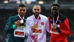 Gurur anları! Guliyev altın madalyasını aldı...
