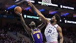 NBA'de gecenin maçında 76'ers, Lakers'ı rahat geçti