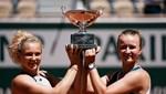 Fransa Açık çiftlerde Krejcikova - Katerina Siniakova şampiyonluğa ulaştı
