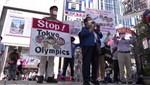 Tokyo 2020 karşıtları sokakta
