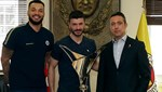 Şampiyon voleybolculardan Ali Koç'a ziyaret