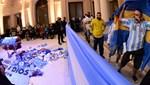Maradona'nın naaşının ziyarete açılmasıyla izdiham yaşandı