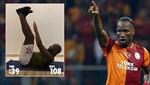Didier Drogba'dan Galatasaray şortuyla 45 saniyede 122 mekik